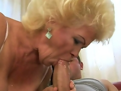 Sweet nature granny Effie is a wild slut when it comes to having ribald sex with a young fellow