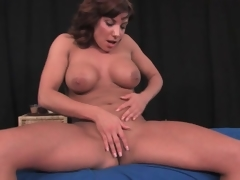Fit milf puts on a solo striptease performance