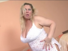 Overweight mature blonde models lace lingerie