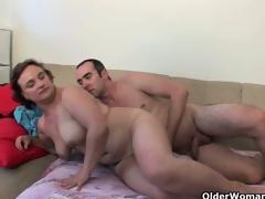 Plump grandma needs your new cum