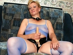 Donna was so excited - she thought she'd finally acquire to wear her belt on dildo and fuck some hot girl. This babe was so desirous that when we got to her place, we saw this oldie stroking her plastic cock. We couldn't allow such a naughty deed to go unpunished. We