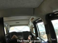 Busty Milf gets anal far a British cab