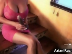 Crestfallen blonde slut gets horny sucking movie