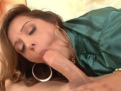 Francesca Le likes doing porn cuz that chick gets a wide diversity of ramrods to engulf and fuck.  Here that chick is getting team-fucked by John, who has the kind of hard pecker and considerable stamina to give her multiple orgasms as this man fucks her silly.