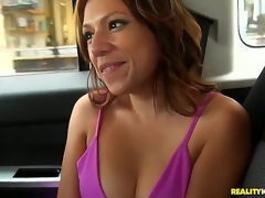 The two males were cruising the streets looking for something to bang when they came across this sexy Latina who was on her way to the gas station. They suggest her a lift and the rest is history!