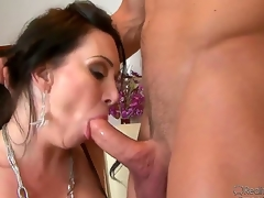 Johnny Castle likes the taste of RayVeness hairy fur pie and licking it receives him hard as a rock. The horny babe needs that unbending ramrod inside her throat str8 away!