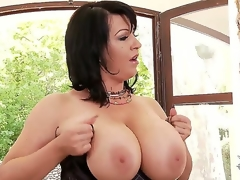 Dude this biatch Kora has some of the majority amazing big tits ever seen, see her showing 'em off and playing with 'em and shaking 'em all over the place