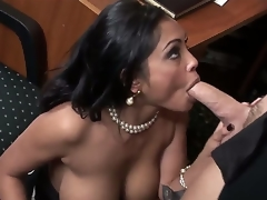 The perverted mature female Priya Rai is a real office doxy that is plunging into the nasty oral fuck with her colleague. She is deepthroating his dick and getting pussy licked