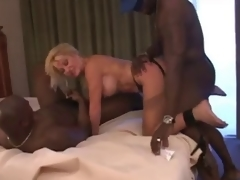 mature slut bitch with two darksome chaps