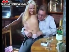 Nasty blonde slut gets horny sucking film 3