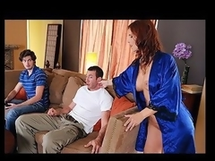 Overworked and undersexed Syren DeMer is one sexy mother I'd like to fuck. As her son and his friend take it easy, this babe spends the day tidying up. When finished her chores, however, Syren knows just how to relax, taking a sexy bath in the middle of the afternoon. But when Jordan, her son's ally, wanders in and spies on the sultry temptress, Syren exacts a revenge which, in this case, is almost any good served HAWT!