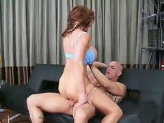 Horny aged hottie Deauxma likes to take up with the tongue and kiss a long stiff cock before taking it unfathomable in her muff