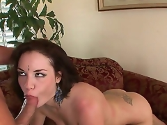 brunette hardcore babe blowjob