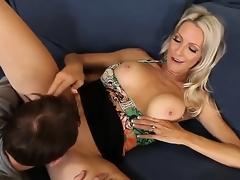 Emma Starr seduces ally of her son Joey Brass to have banging! The dude couldnt resist temptation to fuck this lady! They have oral and proceed with vaginal sex.