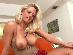 Today we have a real milf from Miami. Her name is Holly Heart and that babe wants to show her big tasty boobies and masturbate a little. And dont forget about her large throat