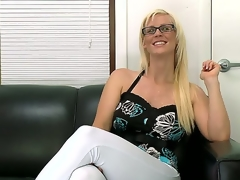 The blonde milf Kaylee Brookshire feels lack of sex in her everyday life so she has come to the casting willing to become a real pornstar  hot and ready for dirty fucking
