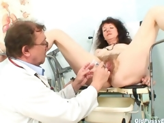 Karla visits gyno clinic with extremely curly pussy