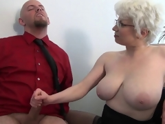 Office Milf Brutal Handjob by Cezar73