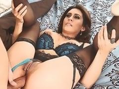 puling milf lingerie ass