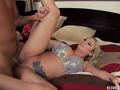 Briana Banks tells her husband this babe wants to try and earn an extra buck by doing solo porn,but the producer Keiran Lee talks her into fucking him in front of her hubby for greater quantity cash!