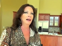 Levi and his breasty client are decorating her recent house. She wants to pay Levi somehow and finally she decides to fuck him, 'coz she is breasty milf and loves large juicy cocks