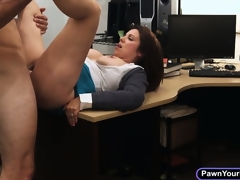 Busty milf ups her cash by sucking cock