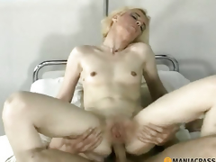 Anal golden-haired copulates boy