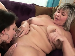 Old hooker loves to take up with the tongue the nipples and the clit of a young girl
