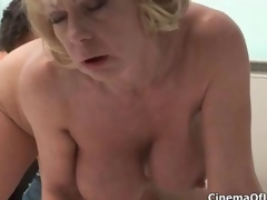 Harmful blonde slut goes crazy sucking clip 5
