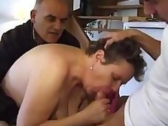 Dude TAKES HIS Of age BBW WIFE TO A Ally TO FUCK