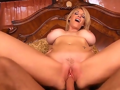 Fascinating and redhead milf Charlee Chase opens her pussy and gets a very precious rug munch