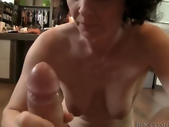 milf blowjob deepthroat facial