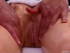 Candy Manson is soon plan to learn why Ramon is the most popular masseur in town. His hands running over her large tits feel so good, and she can feel her cum-hole getting wet...