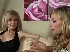 Nicole Ray and Nina Hartley are quite fond of their own sex and we can see 'em here slowly hitting on each other and expecting the situation to escalate.