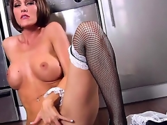 Cody Love works as a maid and prefers to work with her snatch while nobody is at home. She definitely knows how to reach orgasm using her naughty fingers. Watch and enjoy