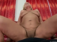 Shaggy aged cunt rides dick in POV porn