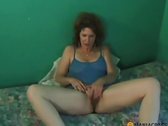 Woman with bushy pussy does blowjob peasant