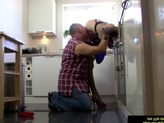 Euro mature more stockings gets her twat impaled