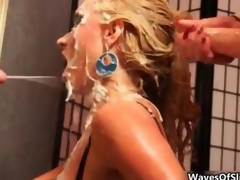 Cum tender blonde gets covered